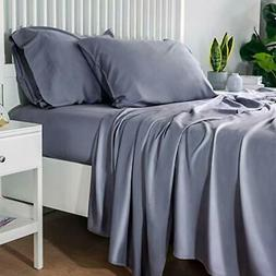 Bedsure 100% Bamboo Sheets Queen Size Cooling Sheets Deep Po