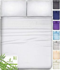 BAMPURE 100% Organic Bamboo Sheets - Bamboo Bed Sheets Organ
