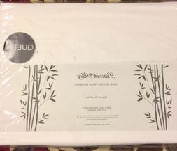 100 percent rayon bamboo white queen sheet