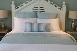 Bed Voyage 11981738 Duvet Cover - King - White-Sky- R