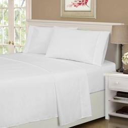 4-pc Queen White Superior 1500 Series Rayon from Bamboo Micr