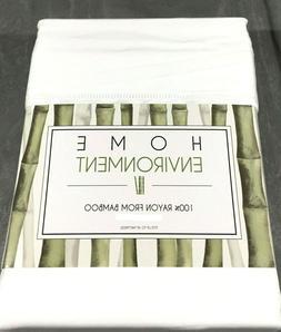 White QUEEN Sheet Set 100% BAMBOO Home Environment Silky Sof