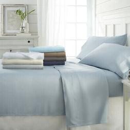 4 piece bamboo bed sheet set
