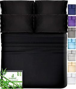 6 Piece Bamboo Sheets King Size Sheets - 100% Organic Bamboo