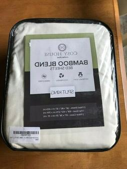 Cosy House Collection Bamboo Blend Sheets Split King 5 Piece