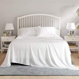 Bedsure 100% Viscose Bamboo Sheets 4-Piece Queen Bed Sheet S