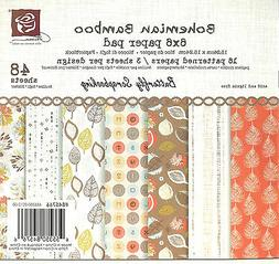 Bohemian Bamboo Collection Scrapbooking 6x6 inch Paper Pad P
