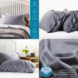 Bedsure Cooling Bamboo Pillowcases Set Of 2 - Breathable Coo