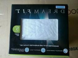 DreamFit Degree 5 Split Head Cal King Sheet Set, White