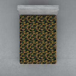 Dragonfly Fitted Sheet Cover with All-Round Elastic Pocket i