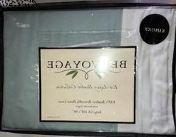 VALUE $280 COMPLETE BEDVOYAGE KING SHEET SET AND DUVET COVER