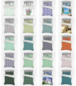 Ambesonne Exotic Bedding Set Duvet Cover Sham Fitted Sheet i