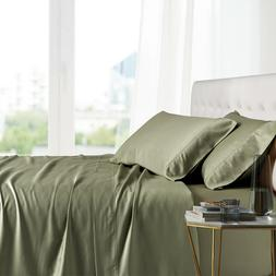 Full Bed Sheet Set- 100% Bamboo Ultra Cool Soft 4PC Deep Poc