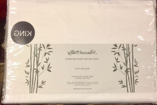 100 percent rayon bamboo white king sheet