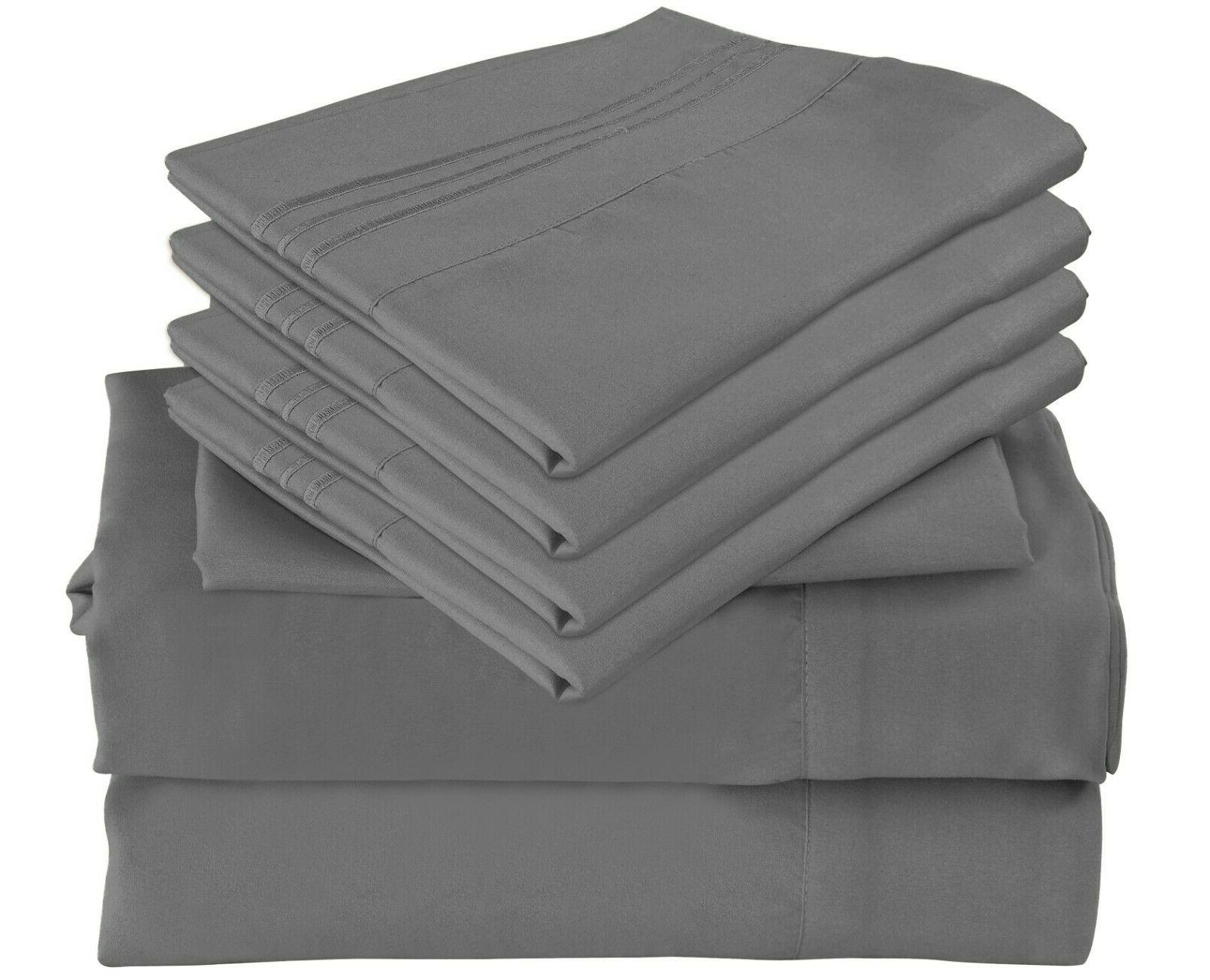 6 pc bamboo sheet set deep pocket