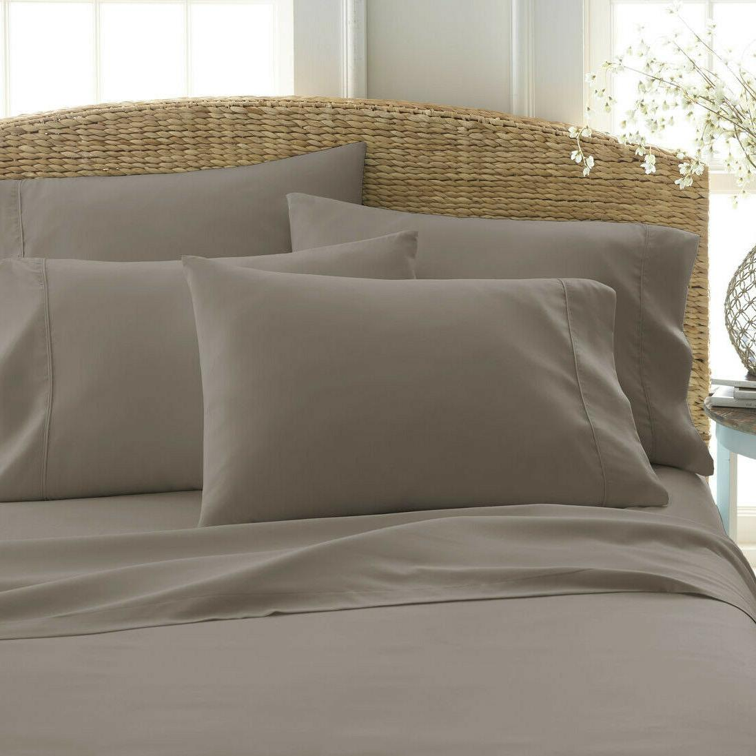 6 2100 Egyptian Comfort Sheet Set