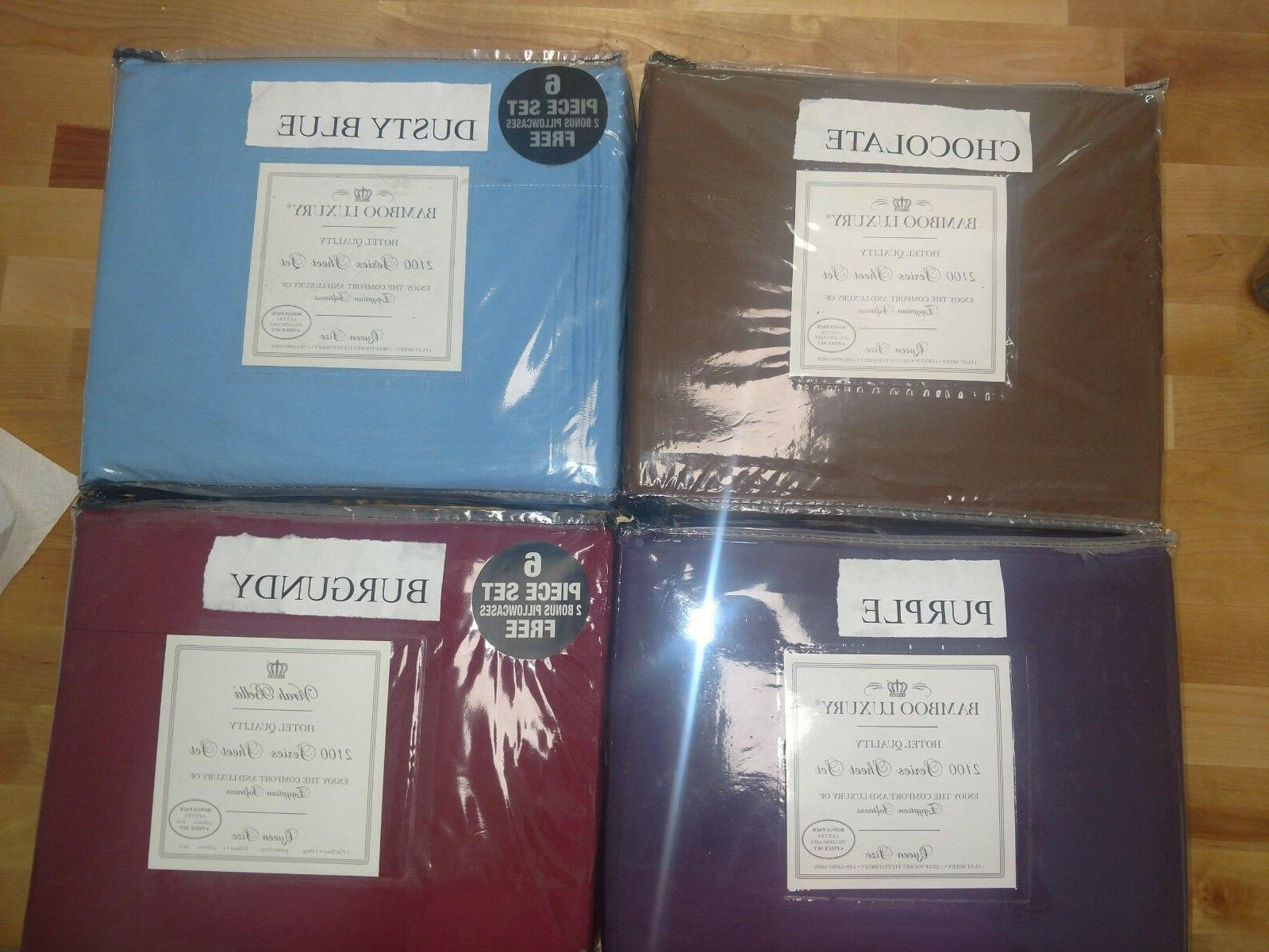 bamboo luxury 6 piece sheet sets all