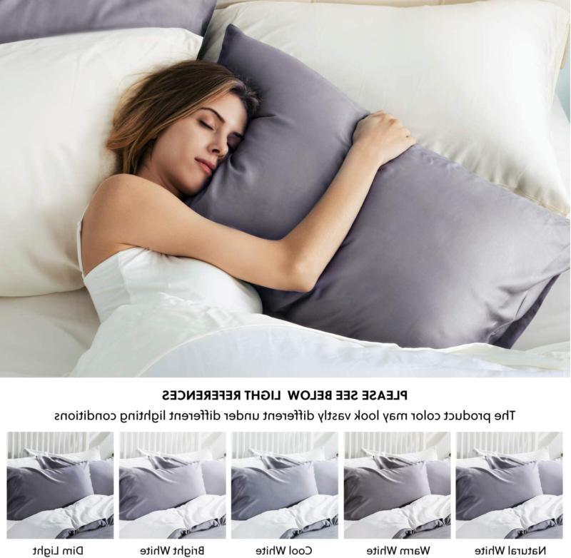 Bedsure Bamboo Set Breathable Soft Pillow