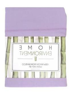 New NIP Home Environment Bamboo Sheets Set Lavender Queen Si