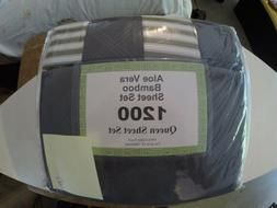 Aloe Vera Bamboo Sheet Set Queen Size Different Colors Brand