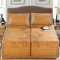 Summer cool flat sheet bamboo mat for bed ice silk double fa