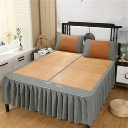 Summer cool flat sheet set bamboo mat with skirt & 2 pillow